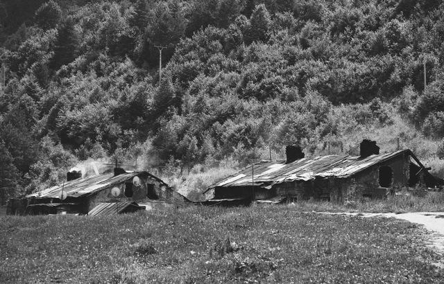 Houses in the hillside